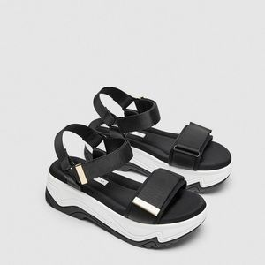 Zara athletic platform sandals